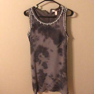 Grey mini dress.